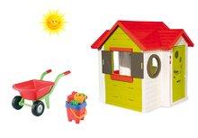 Set detský domček My House Smoby s elektronickým zvončekom a fúrik s vedro setom od 2 rokov