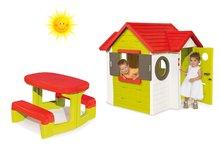 Set domček pre deti My House Smoby s elektronickým zvončekom a stôl Piknik s úložným priestorom od 2 rokov