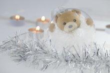Plyšový medveď Xmas Ball Kaloo Vianočná guľa 11 cm z jemného mäkkého plyšu pre najmenších biely