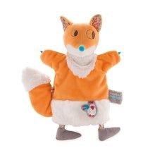 Plyšová líška bábkové divadlo Nopnop-Yummy Fox Doudou Kaloo 25 cm z jemného mäkkého plyšu pre najmenších