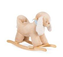 Plüss hinta kutyus Les Amis Caramel Kaloo finom puha plüssből 12 hónapos kortól krémszínű-bézs