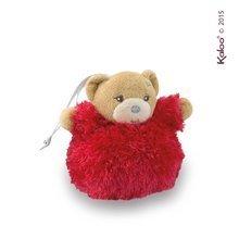 Plyšový medveď Xmas Ball Kaloo Vianočná guľa 11 cm z jemného mäkkého plyšu pre najmenších červený