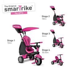 smarTrike 6402200 růžovo-černá tříkolka Glow 4v1 Touch Steering Black&Pink od 10 měsíců
