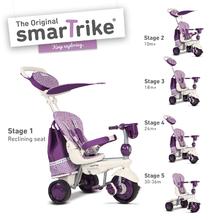 smarTrike 6800400 fialovo-krémová tříkolka Splash 5v1 Purple White 360° řízení s polohovací opěrkou od 10 měsíců