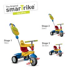 smarTrike 6160100 tříkolka Breeze GL 3v1 Multicolor Touch Steering od 10 měsíců