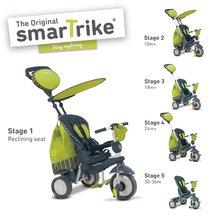 smarTrike 6800700 zeleno-šedá trojkolka Splash 5v1 Green 360° riadenie s polohovateľnou opierkou od 10 mesiacov