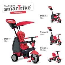 smarTrike 6401500 červeno-čierna trojkolka Glow Touch Steering 4v1 Black&Red od 10 mesiacov