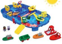 Szett vízi pálya AquaPlay LockBox bőröndben zsilippel és hajók és csónakok figurákkal 3 évtől
