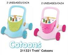 Staré položky - Modrý vozík chodítko Cotoons Trott Smoby od 12 mes_8