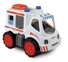 Staré položky - Súprava 3 autíčok Maxi Bolide Smoby sanitka, hasičské a smetiarske auto dĺžka 45 cm_3
