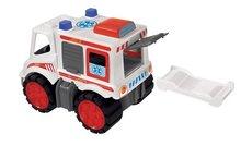 Staré položky - Súprava 3 autíčok Maxi Bolide Smoby sanitka, hasičské a smetiarske auto dĺžka 45 cm_6
