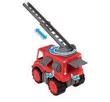 Staré položky - Súprava 3 autíčok Maxi Bolide Smoby sanitka, hasičské a smetiarske auto dĺžka 45 cm_8