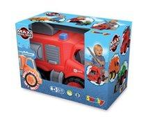 Staré položky - Súprava 3 autíčok Maxi Bolide Smoby sanitka, hasičské a smetiarske auto dĺžka 45 cm_9