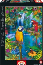 Puzzle 500 dielne - Puzzle Genuine Bird Tropical Land Educa 500 dielov od 11 rokov_1