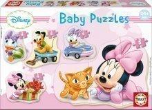 Puzzle bebe Minnie Educa cu 5 feluri de imagini de la 24 luni