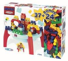 Stavebnice pre najmenších - Stôl Abrick Maxi Écoiffier s kockami a autíčkami 37 dielov + 24 dielov bonus od 12 mes_1