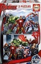 Otroške puzzle Avengers Educa 2x100 delov od 5 leta