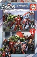 Dječje puzzle od 100 do 300 dijelova - Dječje puzzle Avengers Educa 2x100 dijelova od 5 godina_0