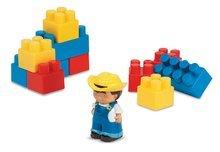 Cuburi de construit Abrick - Joc de construit Abrick - tractor cu cuburi Écoiffier verde/roşu de la 18 luni_0