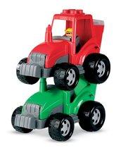 Cuburi de construit Abrick - Joc de construit Abrick - tractor cu cuburi Écoiffier verde/roşu de la 18 luni_1