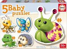 Puzzle pre najmenších - Baby puzzle Mini zvieratká Educa 5-obrázkové od 24 mes_0