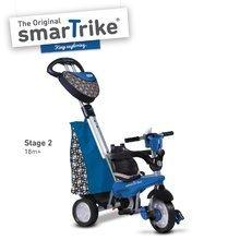 Trojkolky od 10 mesiacov - Trojkolka Dream Legend Touch Steering 4v1 smarTrike s 2 taškami modro-čierna od 10 mes_0