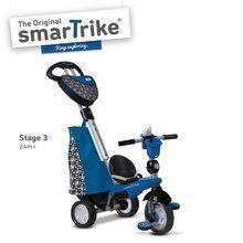 Trojkolky od 10 mesiacov - Trojkolka Dream Legend Touch Steering 4v1 smarTrike s 2 taškami modro-čierna od 10 mes_1