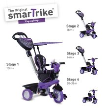 Tricikli Dream Team Purple&Black Touch Steering 4in1 smarTrike lila-fekete