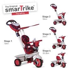 SMART TRIKE 1590500 trojkolka DREAM TEAM RED TouchSteering 4v1 s tlmičom a  taškou červeno-šedá od 10-36 mesiacov