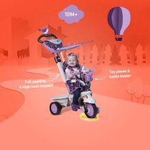 Trojkolky od 10 mesiacov - Trojkolka Dream Team Purple Touch Steering 4v1 smarTrike fialovo-šedá od 10 mes_9