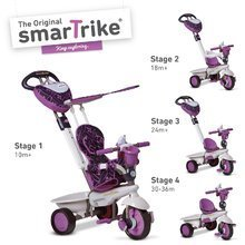 Tricikel Dream Team Purple Touch Steering 4v1 smarTrike vijolično-siv od 10 mes