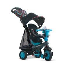 Tříkolka Boutique Blue Touch Steering 4v1 smarTrike s 2 taškami a stříškou černo-modrá od 10 měsíců