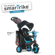 Tricikli Boutique Blue Touch Steering 4in1smarTrike kék-fekete