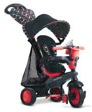 Trojkolka Boutique Red Touch Steering 4v1 smarTrike s tlmičom a 2 taškami červeno-čierna od 10 mesiacov