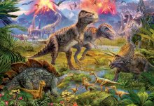 Puzzle 500 dielne - Puzzle Genuine Dinosaur Gathering Educa 500 dielov od 11 rokov_0