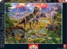 Puzzle 500 dielne - Puzzle Genuine Dinosaur Gathering Educa 500 dielov od 11 rokov_1