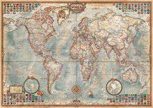Puzzle 1500 dielne - Puzzle Politická mapa sveta Educa 1500 dielov_0