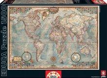 Puzzle 1500 dielne - Puzzle Politická mapa sveta Educa 1500 dielov_1