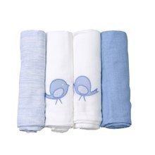Bavlněné pleny toTs-smarTrike extra velikost 4 kusy 100% přírodní bavlna modré