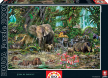 Puzzle 2000 dielne - Puzzle African Jungle Educa 2000 dielov_1