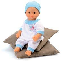 Păpuşă Baby Nurse Smoby în şalopetă albă 32 de cm de la 24 luni