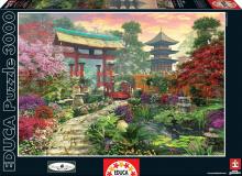 Puzzle 3000 dielne - Puzzle Genuine Japonská záhrada Educa 3000 dielov od 15 rokov_1