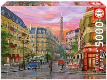 EDUCA 16022 Puzzle Genuine Rue Paris, D. Davison, 5000 ks