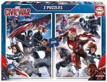 Puzzle Captain America: Občianska vojna Educa 2x500 dielov od 11 rokov