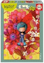 Puzzle Blue Lady, Ketto Educa 1000 dílů od 12 let