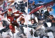 Puzzle 500 dielne - Puzzle Captain America: Občianska vojna Educa 2x 500 dielov od 11 rokov_0