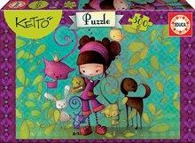 Puzzle pre deti Ketto s priateľmi Educa 300 dielov od 8 rokov