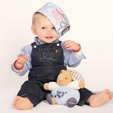 Dojčenské osušky - Osuška s kapucňou pre najmenších Blue Denim-Bath Kaloo so žinkou modrá od 0 mesiacov_0