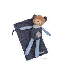 Ursuleț de pluș de alint Blue Denim-Doudou Kaloo 20 cm în geantă pentru cei mai mici copii