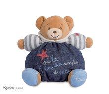 Ursuleţ din pluş Blue Denim-Happy Chubby Bear Kaloo 25 cm în pachet de cadouri pentru cei mai mici copii albastru